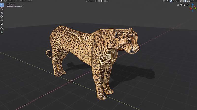 在Blender 2.8中实现乐高积木(体素)风格模型