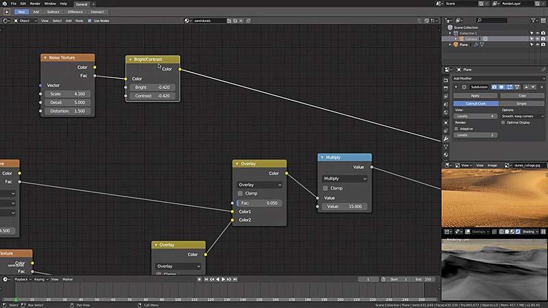 Blender 2.8 制作程序化沙丘