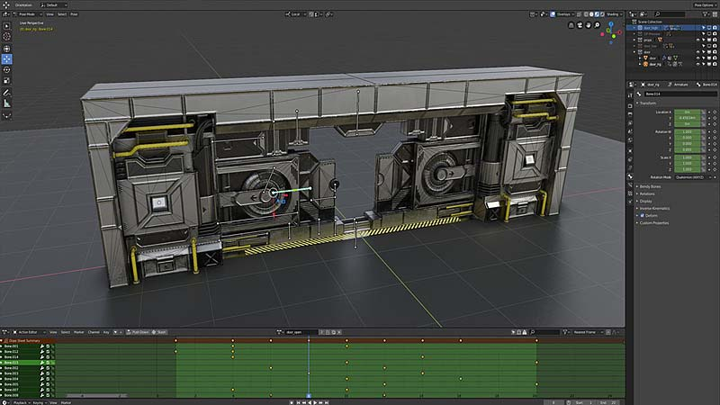 Blender2.8科幻动画游戏环境制作教学