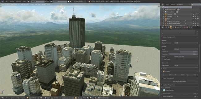 Blender专业城市建筑包(SceneCity Pro)